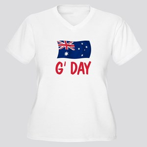 Australian G'Day Women's Plus Size V-Neck T-Shirt
