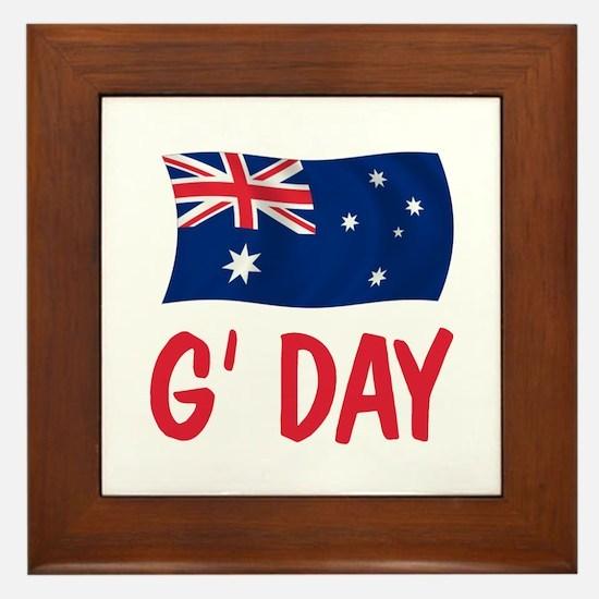 Australian G'Day Framed Tile