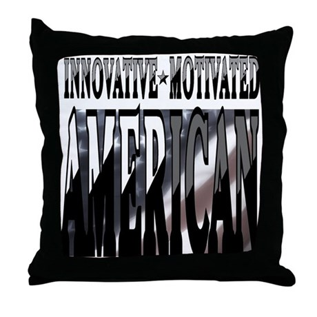 AMERICAN MOTIVATED Throw Pillow
