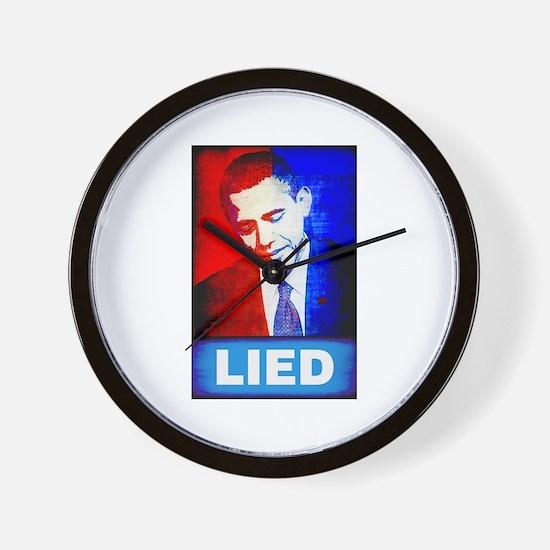 Obama Lied Wall Clock
