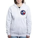 Texas Flag OES Women's Zip Hoodie