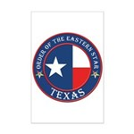 Texas Flag OES Mini Poster Print