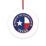 Texas Flag OES Ornament (Round)