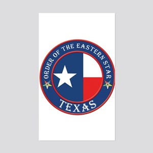 Texas Flag OES Rectangle Sticker