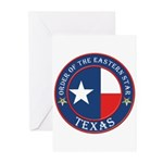 Texas Flag OES Greeting Cards (Pk of 20)