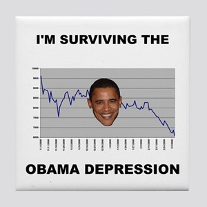 The Obama Depression Tile Coaster