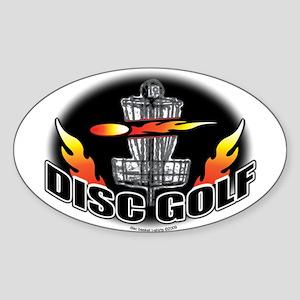 Flammin Disc Golf Oval Sticker