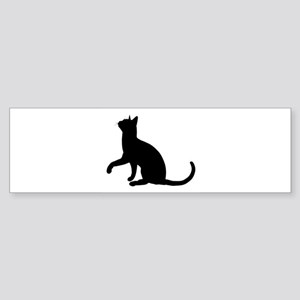 Black Cat Silhouette Bumper Sticker