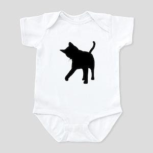 Black Kitten Silhouette Infant Creeper