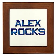 alex rocks Framed Tile