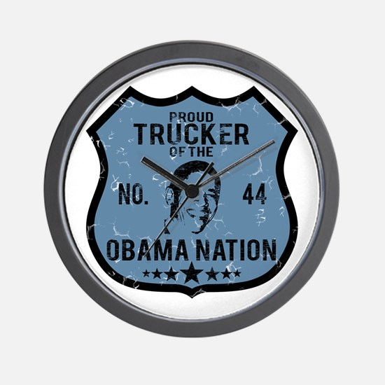 Trucker Obama Nation Wall Clock