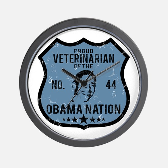 Veterinarian Obama Nation Wall Clock
