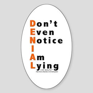DENIAL Oval Sticker