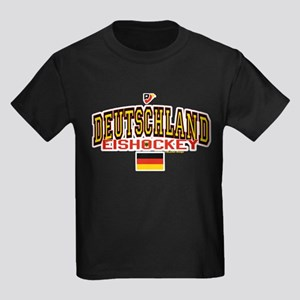 DE Germany Hockey Deutschland Kids Dark T-Shirt