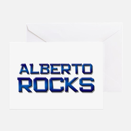 alberto rocks Greeting Card