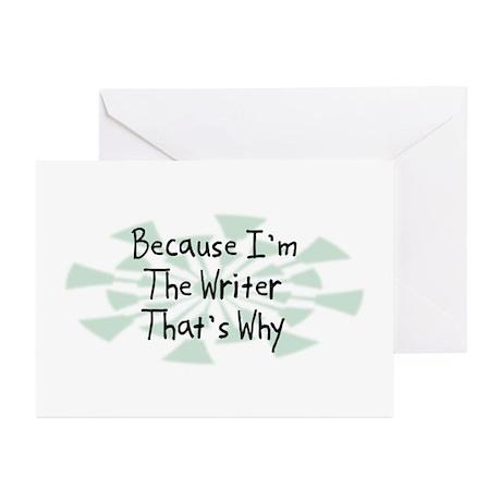 Because Writer Greeting Cards (Pk of 20)