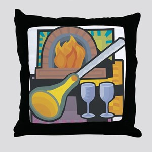 Glass Blowing Throw Pillow