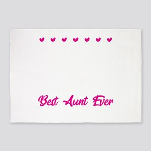 Auntie Aunt B.A.E. Best Aunt Ever B 5'x7'Area Rug