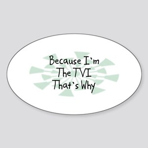 Because TVI Oval Sticker