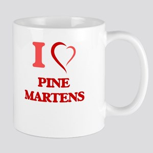 I Love Pine Martens Mugs