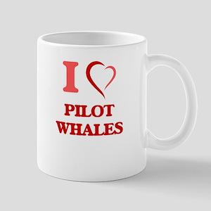 I Love Pilot Whales Mugs