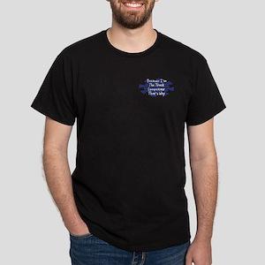 Because Track Competitor Dark T-Shirt
