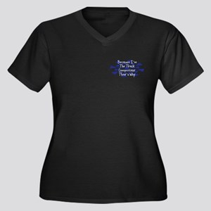 Because Track Competitor Women's Plus Size V-Neck