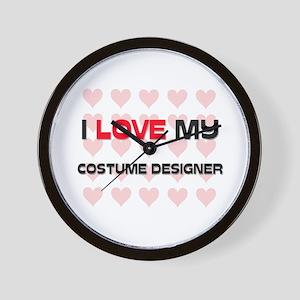 I Love My Costume Designer Wall Clock