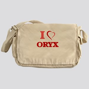 I Love Oryx Messenger Bag