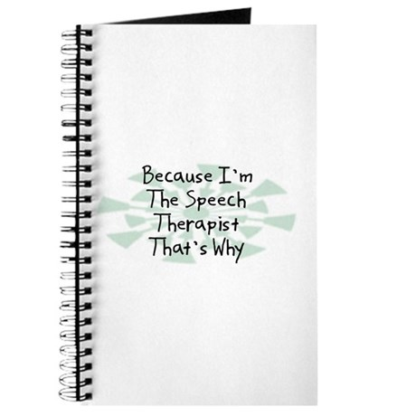 Because Speech Therapist Journal