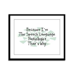 Because Speech Language Pathologist Framed Panel P