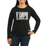 Women's Long Sleeve Dark T-Shirt (large logo)