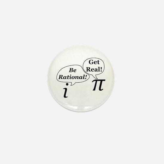 Funny Math teacher Mini Button