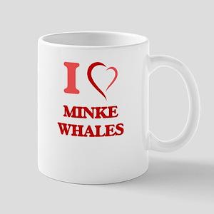 I Love Minke Whales Mugs