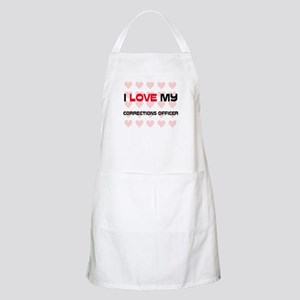 I Love My Corrections Officer BBQ Apron