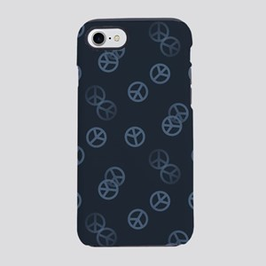 Gray Peace Sign Pattern iPhone 7 Tough Case