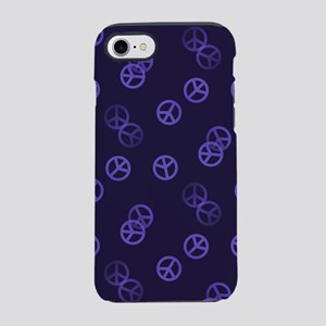 Purple Peace Pattern iPhone 7 Tough Case
