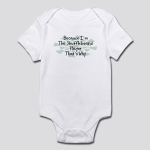 Because Shuffleboard Player Infant Bodysuit
