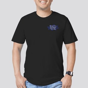 Because Shooter Men's Fitted T-Shirt (dark)