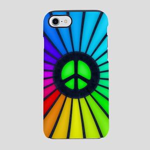Rainbow Peace Sign iPhone 7 Tough Case