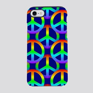 Rainbow Peace Sign iPhone 7 Tough Case
