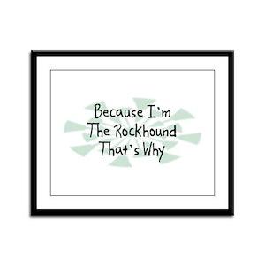 Because Rockhound Framed Panel Print