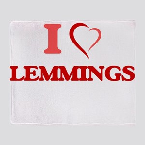 I Love Lemmings Throw Blanket