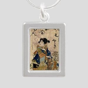 Vintage Japanese Art Woman Necklaces