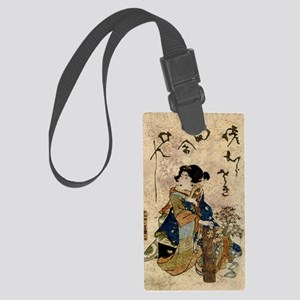 Vintage Japanese Art Woman Luggage Tag