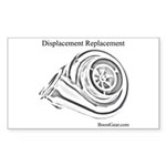 Displacement Replacement Turbo - Sticker (10 pk)