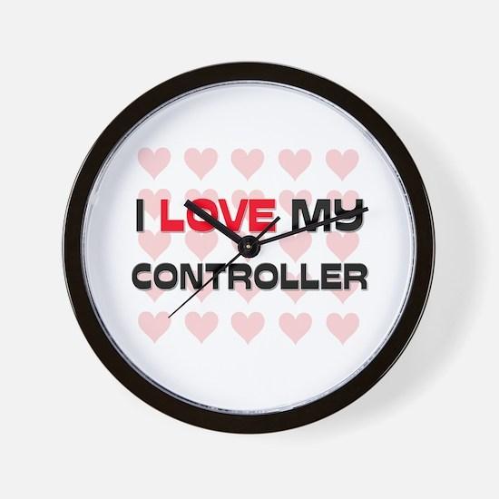 I Love My Controller Wall Clock