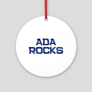 ada rocks Ornament (Round)