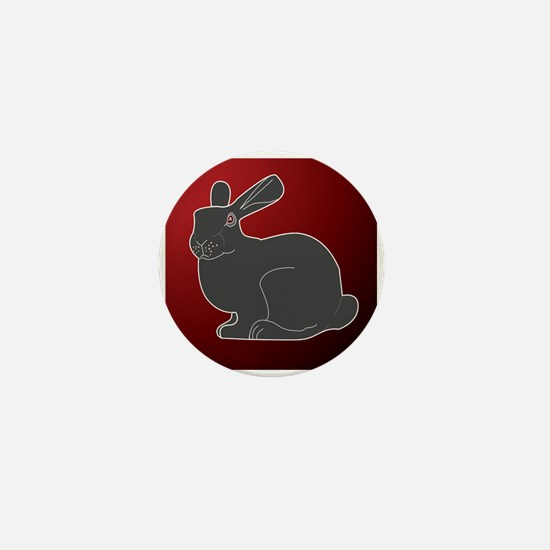 Crimson Death Bunny Mini Button