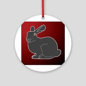Crimson Death Bunny Ornament (Round)